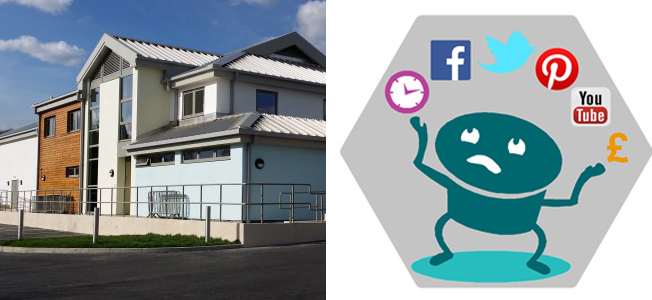 logo and picture of beehive centre